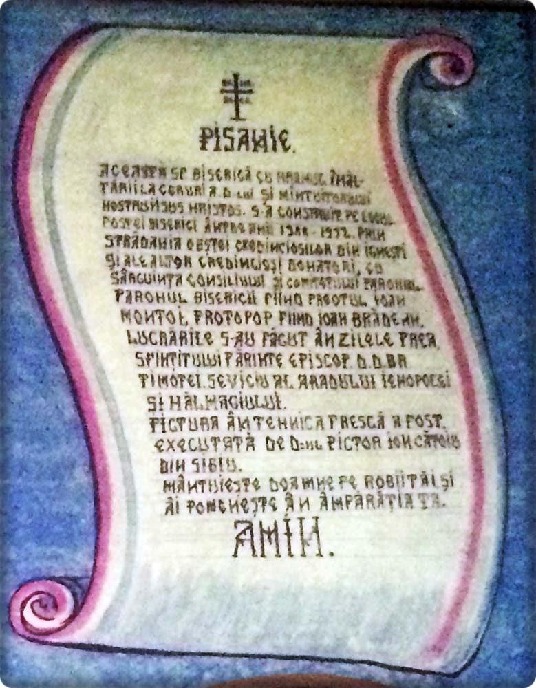 Detaliu Pisanie- Altar