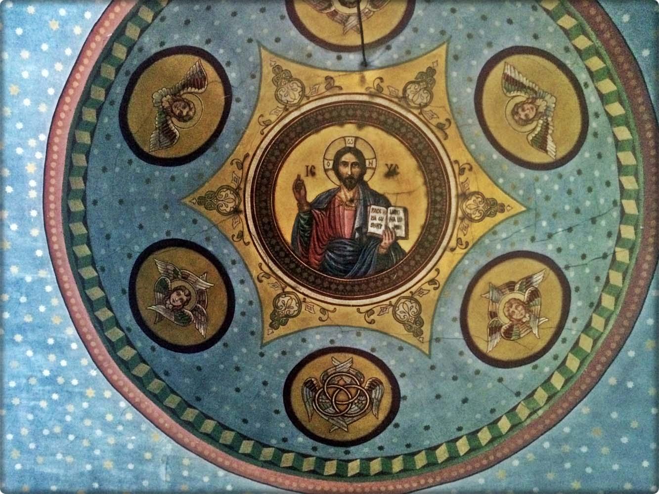 Detaliu bolta centrală - Iisus Pantocrator